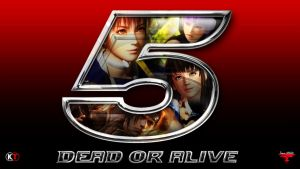 DEAD OR ALIVE 5 ~ 5 Logo Wallpaper by Leifang12