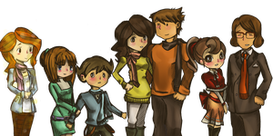 Merry Xmas from Layton Team^^ by Vui-chan