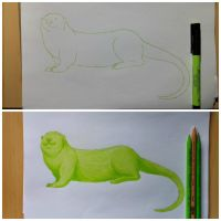 Lime Green Otter by x121887x