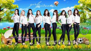 Snsd:Spring Day by Jover-Design