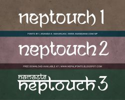 Ananda Neptouch 1. 2 and 3 free fonts by lalitkala