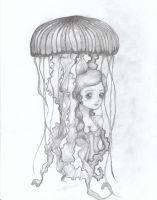 Jellyfish Umbrella by MissDarling23