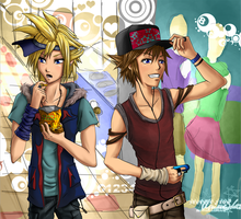 Cloud and Sora by Kaoru-Kina