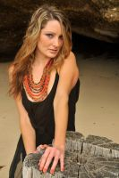 Zoe - black dress and beads 1 by wildplaces