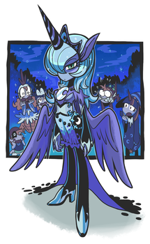 Humanized Princess Luna. by Gashi-gashi