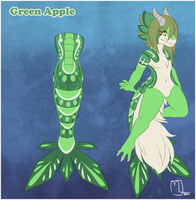 Shrimp tailed dragon- Green Leaf Auction by Little-Noko