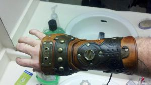 SteamRyder bracer armor by theDOC30427