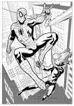 Spider-man and Black Widow by wgpencil