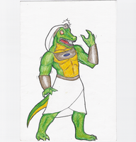 Sobek, God of the Nile by NCredibleCarl