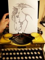 My Typewriter Art : Horse by dreamstone