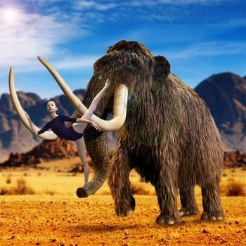 Anastasia and the Mammoth by PhotoDeviation