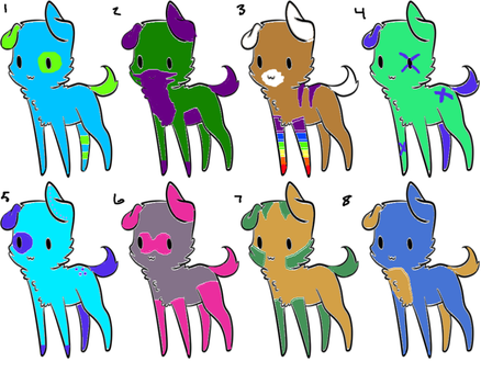 Canine Adoptatbles 1 by Charizard4ever1