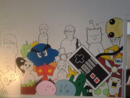 WIP Mural: A Few of my Favorite Things by thejenty