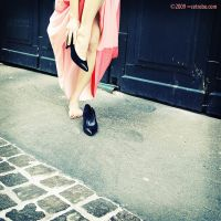 No shoes with her pink dress by cetrobo