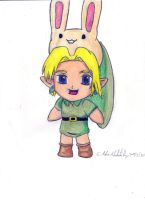 Link Chibi With the Mask of Bunny by Windkiron