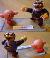 Kirby and Wario Figurine by Jelle-C