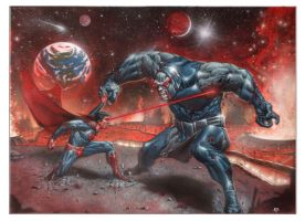 Superman vs Darkseid by andrema