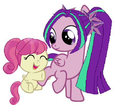 Aria and baby Raspberry by ani80