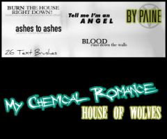 House Of Wolves - Text Brushes by NemesisDivina666