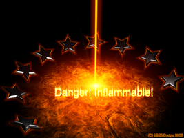 Inflammable Wallpaper by MMX-Design