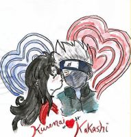 Kakashi kissed by Kurenai by NASKdoujinshi