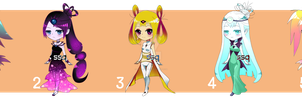 Adoptables - Cosmic Girls (#3 available) [OPEN] by ssq-adoptables