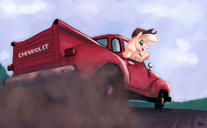 Applejack's Farm Truck by sevoohypred