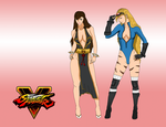Chun Li and Cammy finally have long hair by simpleguyfa