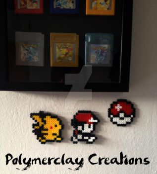 Pixel Pokemon by PolymerclayCreations