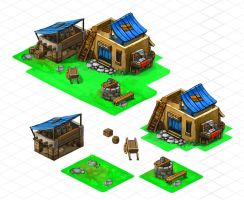 Isometric hut by Delun