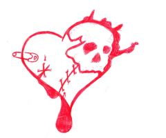 heart skull by shakedownbreakdown