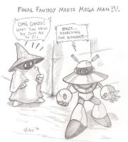 Final Fantasy meets Mega Man by Firu-Kun