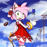 Amy Rose by wasseraku