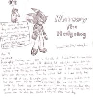 Mercury the hedgehog-Sketch by SagaHanson25
