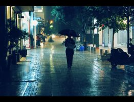 When it rains by Vrohi