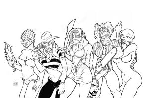 Ladies of Horror by MR-PHiLL