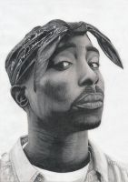 2pac by Bajan-Art