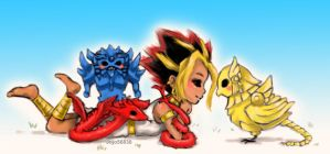 Atem And Friends by jojo56830