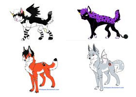 Wolf Adoptables open by cocobeanc