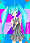 Miku Hatsune by PaintOfTheWind