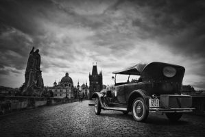 vintage prague bw.. by almiller