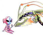Mega Rayquaza and Deoxys by HACtime