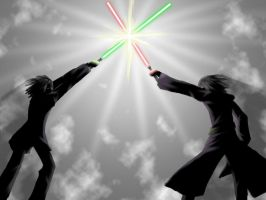 Jedi vs. Sith, lol by Xorte-Renshe