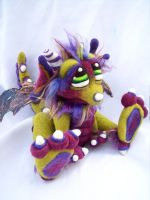 Olive Berry Dragon Pup by Tanglewood-Thicket