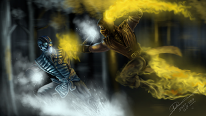 Mortal Kombat X! Scorpion vs Sub Zero by daregb