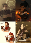 Legend of Korra sketches by dCTb