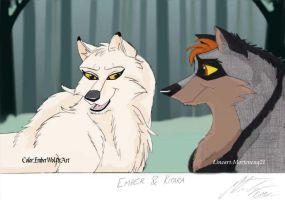 Collab: Kitara and Ember by EmberWolfsArt