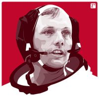 Neil Armstrong by monsteroftheid