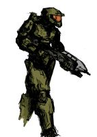 Master Chief by walrus-boy