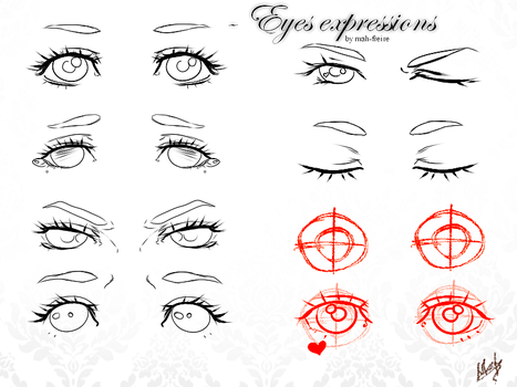 Eyes - expressions by MarcelaFreire